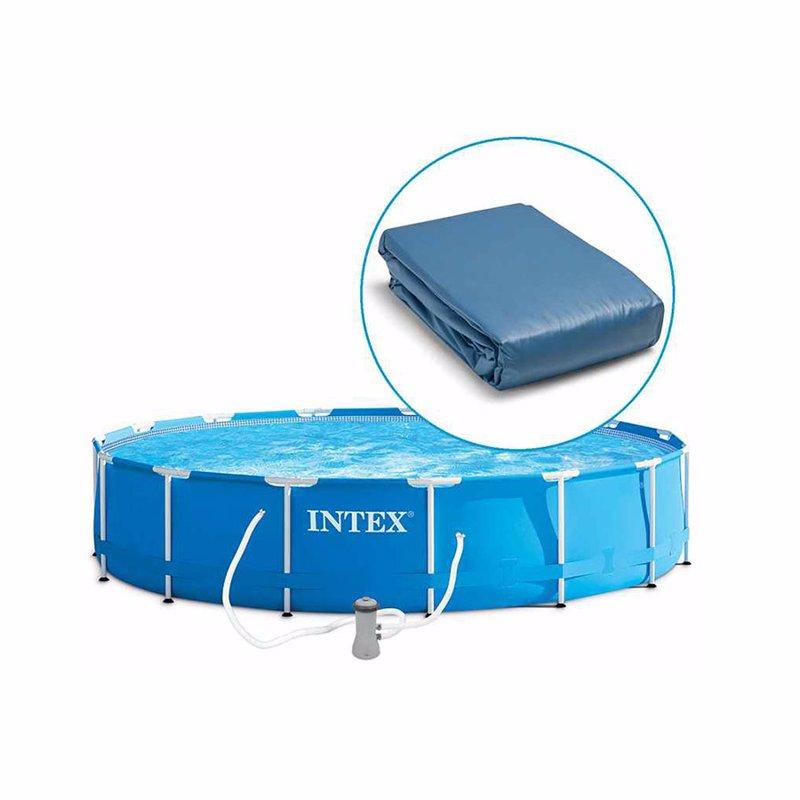 Чаша для каркасного бассейна Intex 28236, Bestway 56100 (457x122 см) Ткань Intex 11413