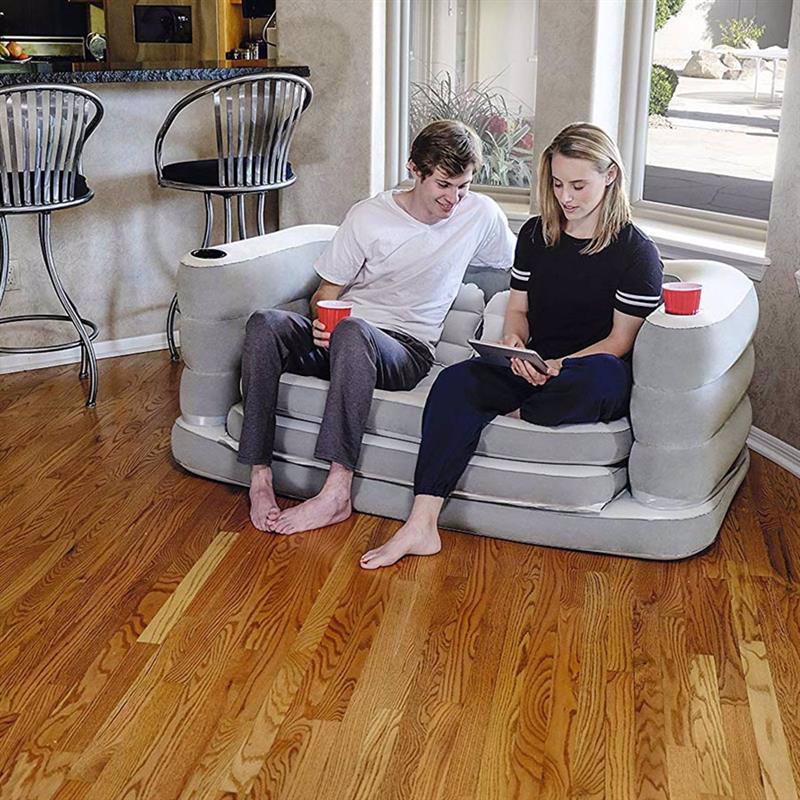 Надувной диван-трансформер Bestway 75063 (160 x 200 x 64 см) Multi Max II Air Couch + 2 подушки