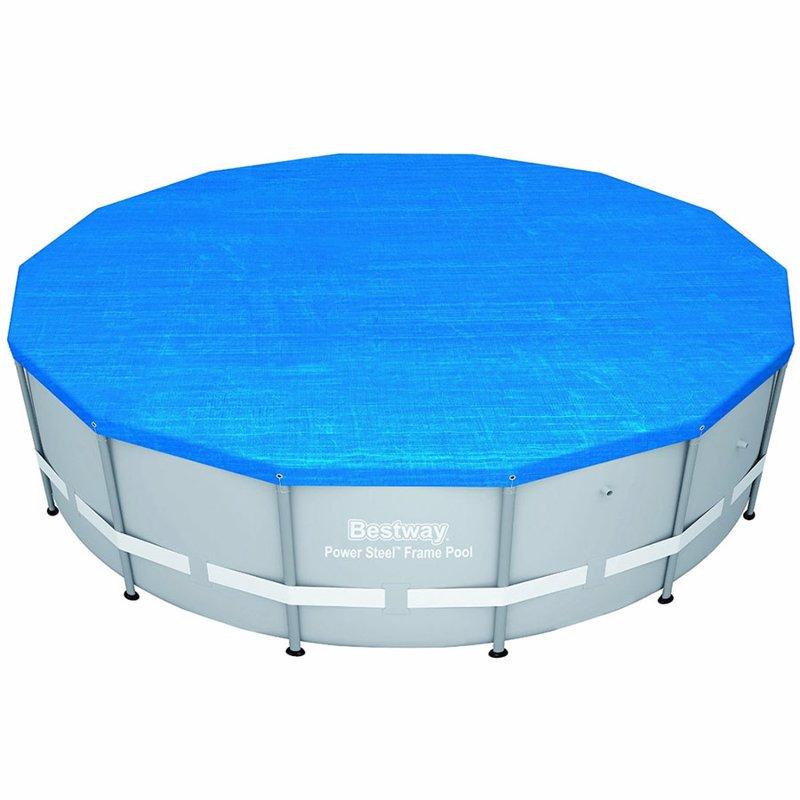 Круглый каркасный бассейн Bestway 56478 (427x122 см) Power Steel Metal Frame Round Pool