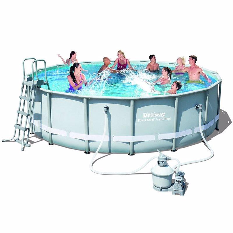Круглый каркасный бассейн Bestway 56452 (488х122 см) Power Steel Metal Frame Pool