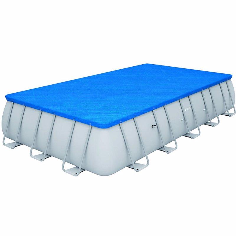 Прямоугольный каркасный бассейн Bestway 56471 Power Steel Frame Pool (671х366х132 см)