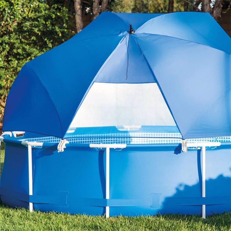 Тент-зонтик Intex 28050 от солнца Pool Canopy (для круглых каркасных бассейнов, диаметром от 366 до 549 см)
