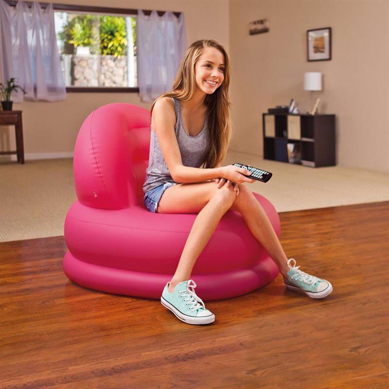 Надувное кресло Intex 68592 (84 x 99 x 76 см) Mode Chair (Розовый)
