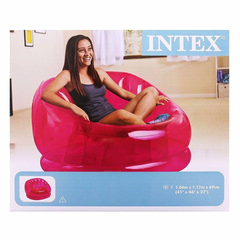 Надувное кресло Intex 68594 (104 x 117 x 69 см) Cosmo Chair (Розовый)
