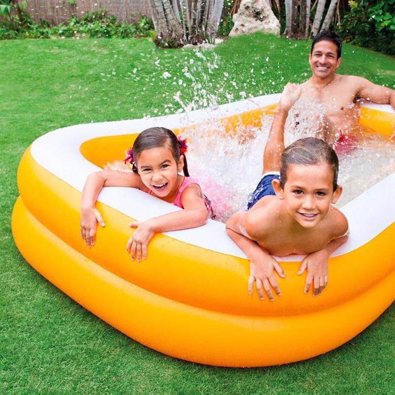 Семейный надувной бассейн Intex 57181 Мандарин Mandarin Swim Center Family Pool (229x147x46 см)