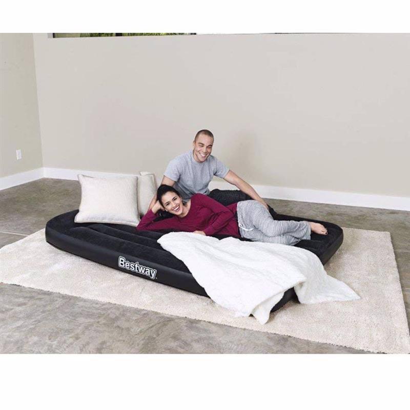 Двуспальный надувной матрас Bestway 67464 (203 x 152 x 30 см) Tritech + Встроенный электронасос 220В