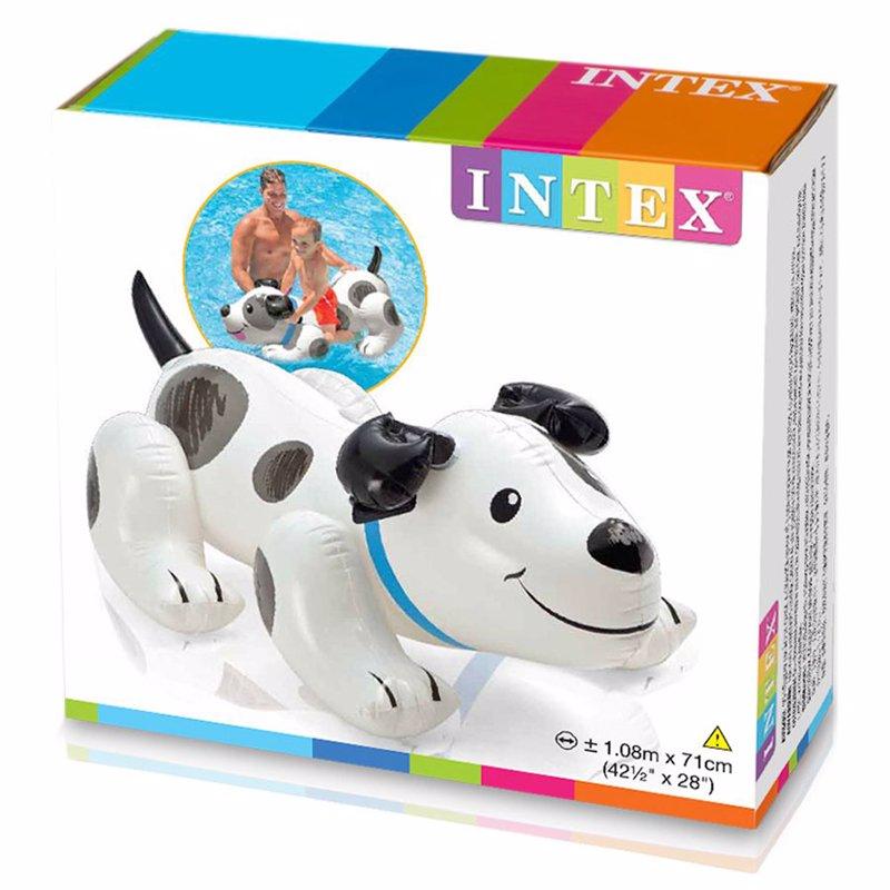 Детский надувной плотик Intex 57521 Щенок (108x71 см) Puppy Ride-On
