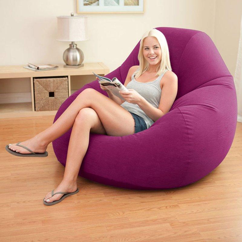 Надувное кресло Intex 68584 (122 x 127 x 81 см) Deluxe Beanless Bag
