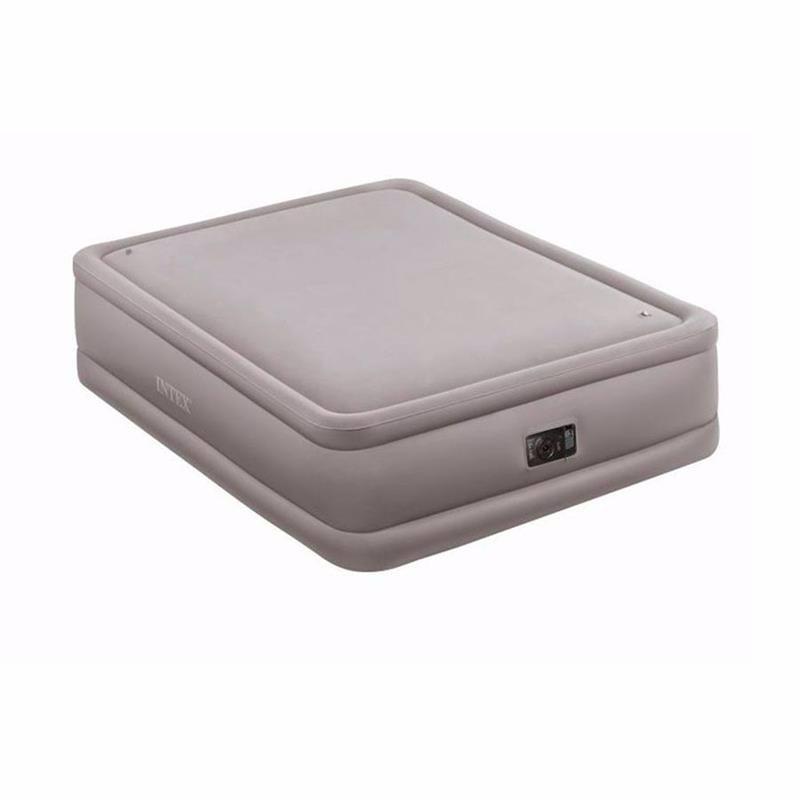 Двуспальная надувная кровать Intex 64468 (152 x 203 x 51 см) Foam Top + Встроенный электронасос 220В