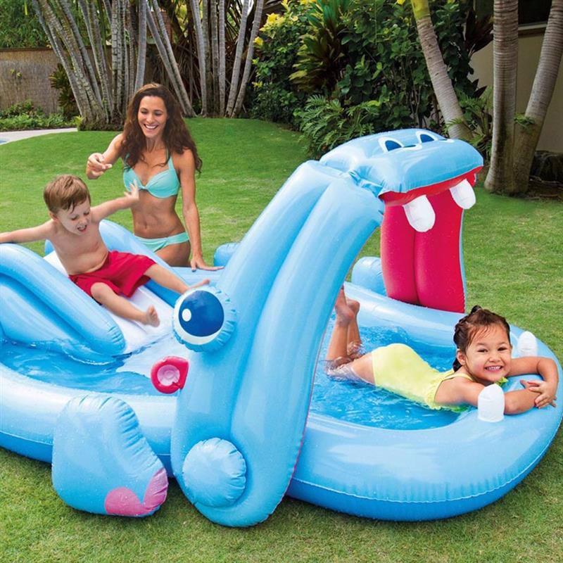 Водный надувной игровой центр Intex 57150 (221 x 188 x 86 см) Бегемот