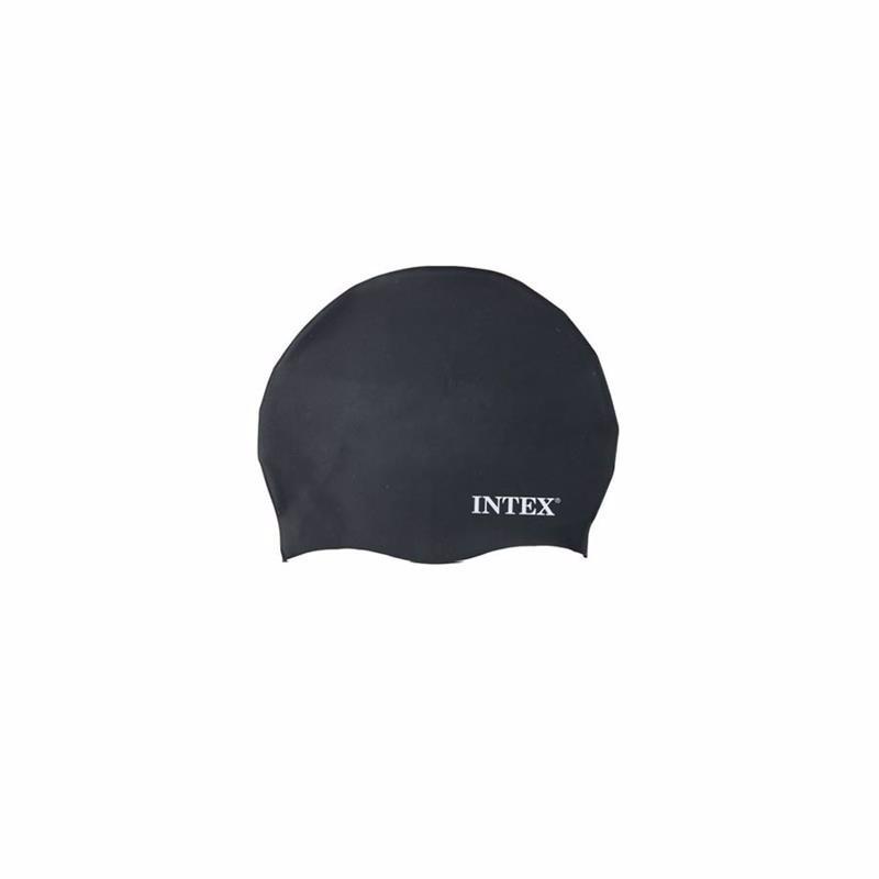 Шапочка для плавания Intex 55991 (Черный) Silicone Swim Cap