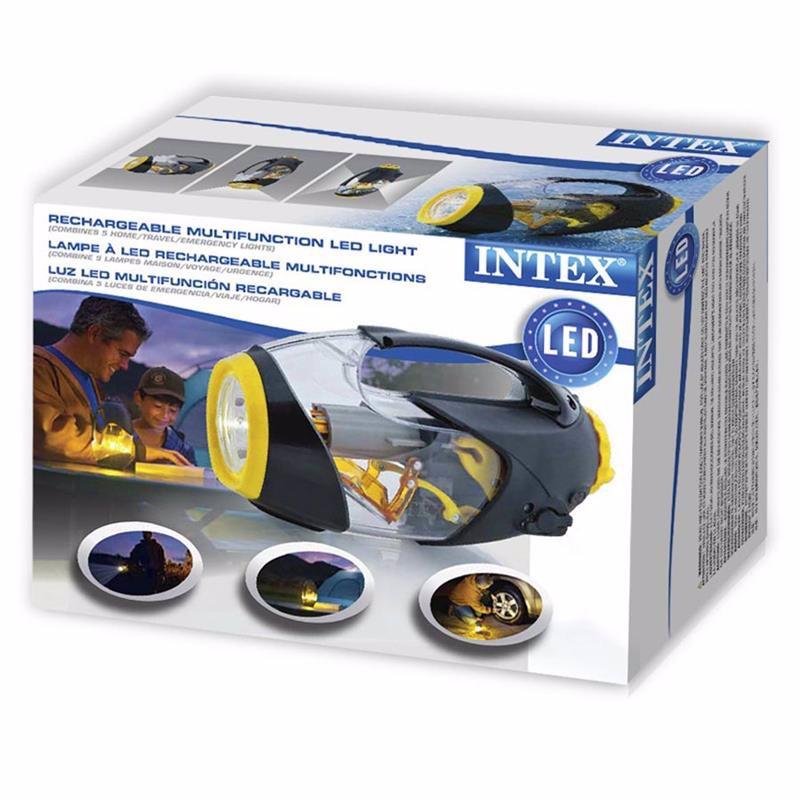 Cветодиодный ручной фонарь Intex 68691 водонепроницаемый, аккумуляторный Deluxe 5-in-1 LED Light