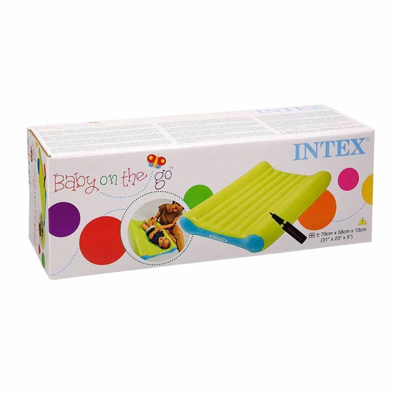 Надувной матрас для пеленания Intex 48422 (58 x 79 x 13 см) + Ручной мини-насос