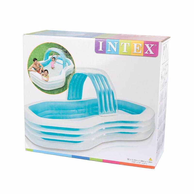 Семейный надувной бассейн Intex 57198 Swim Center Family Cabana Pool (310x188x130 см)