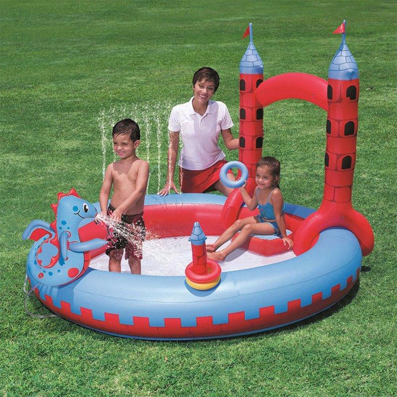 Водный надувной игровой центр Bestway 53037 (193 x 221 x 150 см) Замок Дракона