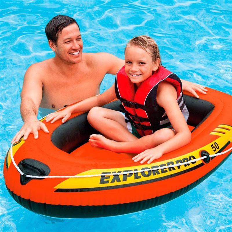 Детская одноместная надувная лодка Intex 58354 (137x85x23 см) Explorer Pro 50
