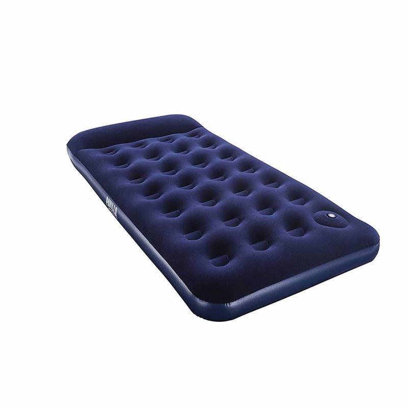 Односпальный надувной матрас Bestway 67224 (188 x 99 x 28 см) + Встроенный ножной насос