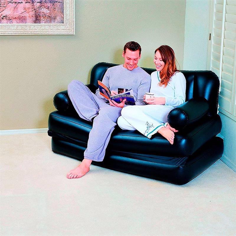 Надувной диван-трансформер Bestway 75056 (152 х 188 х 64 см) Double 5 In 1 Multifunctional Couch + Внешний электронасос 220В