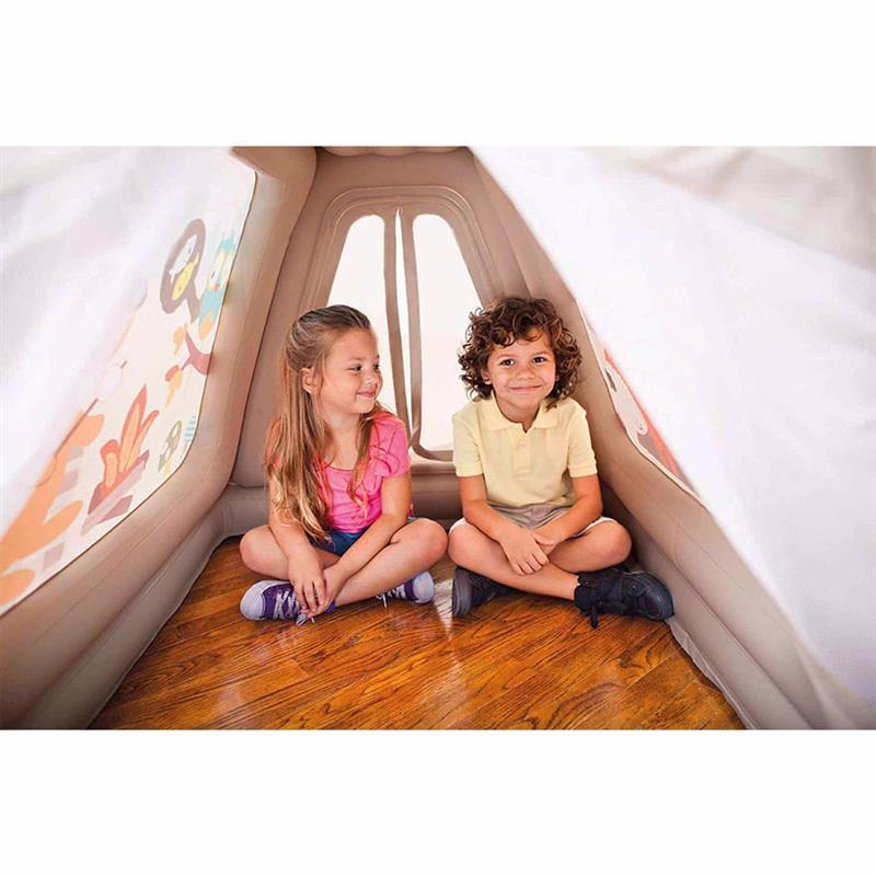 Надувной игровой центр-домик Intex 48634 (127 x 112 x 116 см) Звериный лагерь