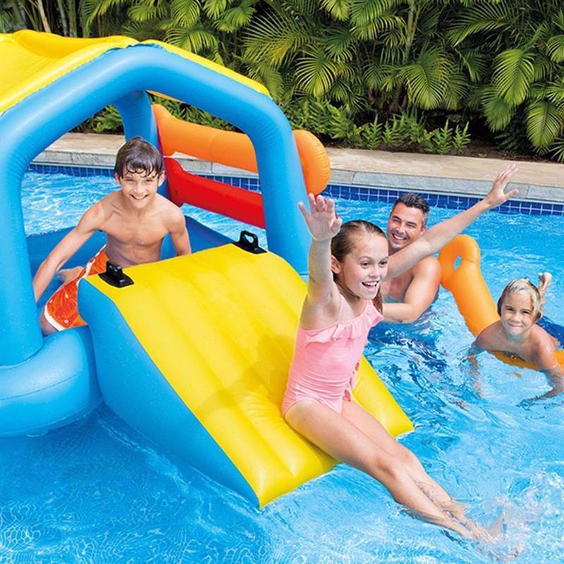 Водный надувной игровой центр Intex 58294 (279 x 173 x 122 см) Плавающий остров