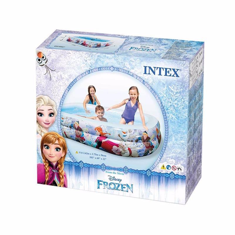 Семейный надувной бассейн Intex 58469 Холодное Сердце Swim Center Pool (262x175x56 см)