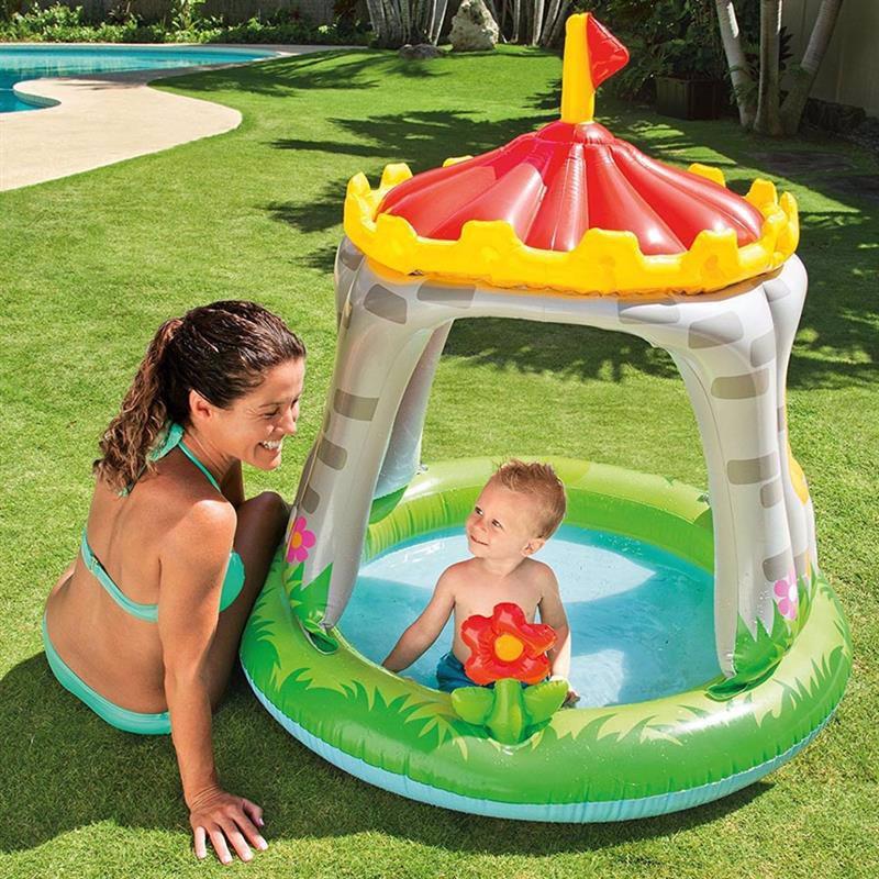 Детский надувной бассейн Intex 57122 Королевский Замок Royal Castle Baby Pool (122x122 см)