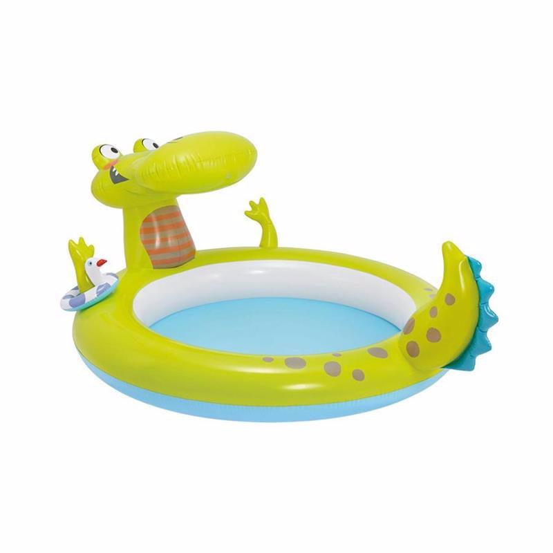 Детский надувной бассейн Intex 57431 Крокодил Gator Spray Pool (198x160x91 см)