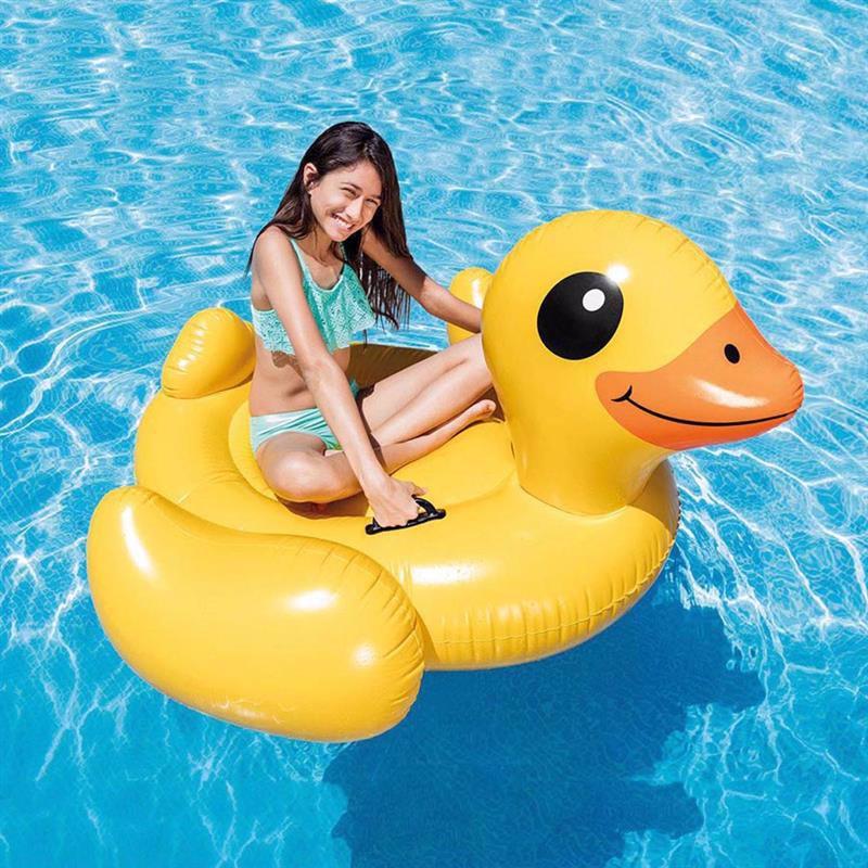 Детский надувной плотик Intex 57556 Уточка (147x147x81 см) Yellow Duck Ride-On