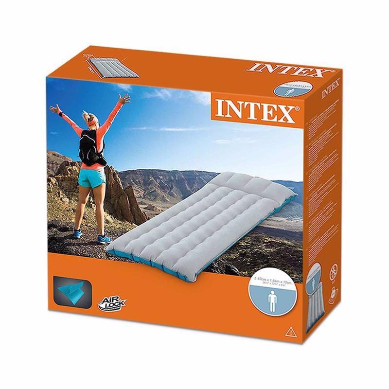 Односпальный надувной матрас Intex 67997 (67x 184x 17 см) Camping