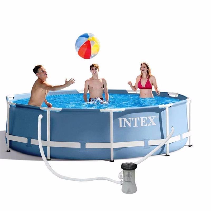 Круглый каркасный бассейн Intex 28702 (305х76 см) Prism Frame Pool