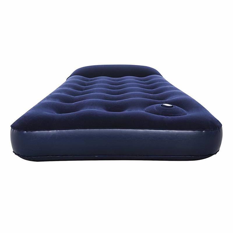 Односпальный надувной матрас Bestway 67223 (185 x 76 x 28 см) + Встроенный ножной насос