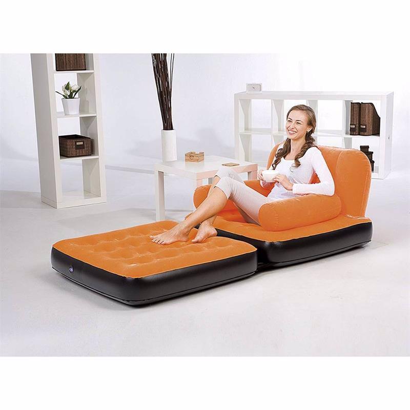 Надувное кресло-трансформер Bestway 67277 (191 x 97 x 64 см) Multi-Max Air Couch (Оранжевый)