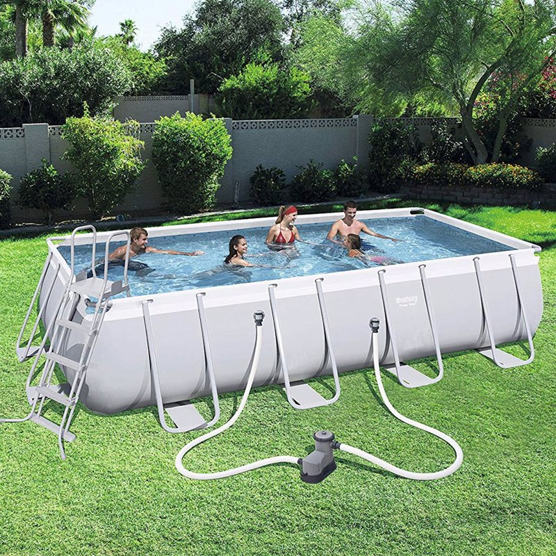 Прямоугольный каркасный бассейн Bestway 56465 Power Steel Frame Pool (549х274х122 см)