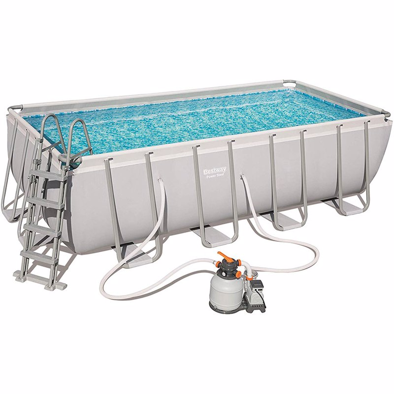 Прямоугольный каркасный бассейн Bestway 56671 (488х244х122 см) Power Steel Frame Pool