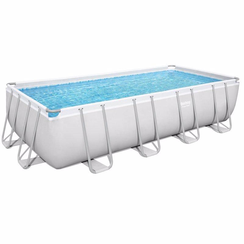 Прямоугольный каркасный бассейн Bestway 56670 (488х244х122 см) Power Steel Frame Pool
