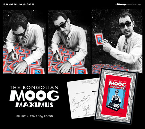 The Bongolian Signing Moog Maximus Postcards