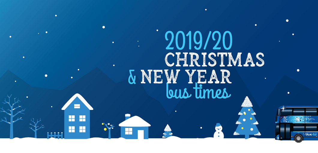 2019-20 Christmas and New Year bus times