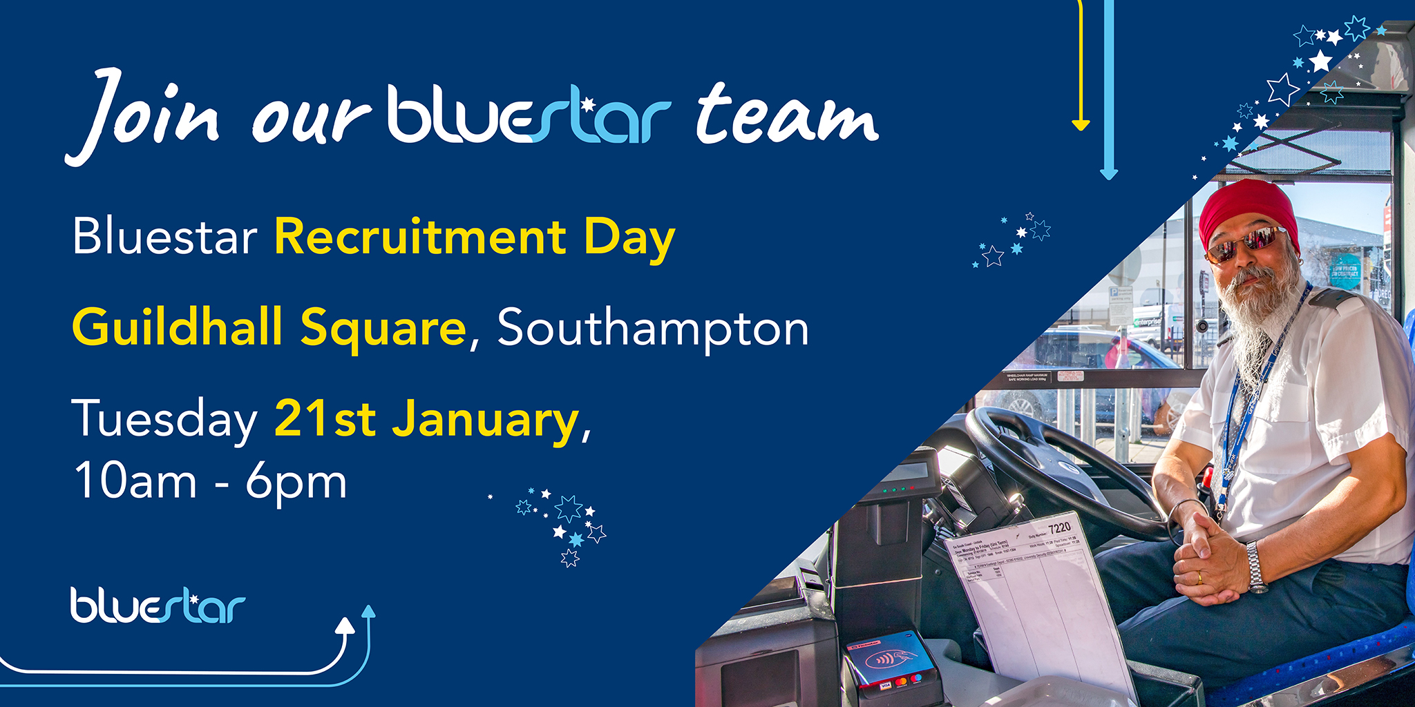 Recruitment Day - 21st January 2020 - Guildhall Square, Southampton