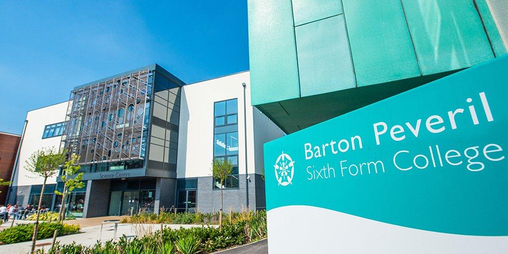Barton Peveril College sign