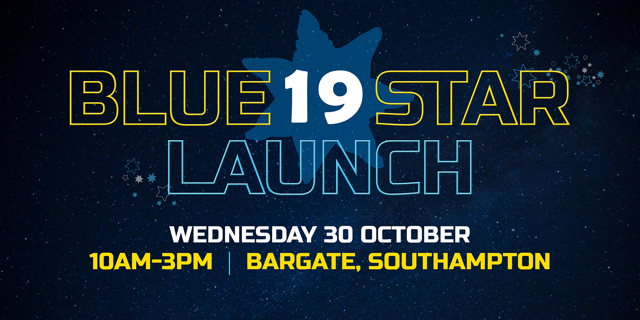 Bluestar 19 launch - Wednesday 30th October,10am-3pm, Bargate Southampton