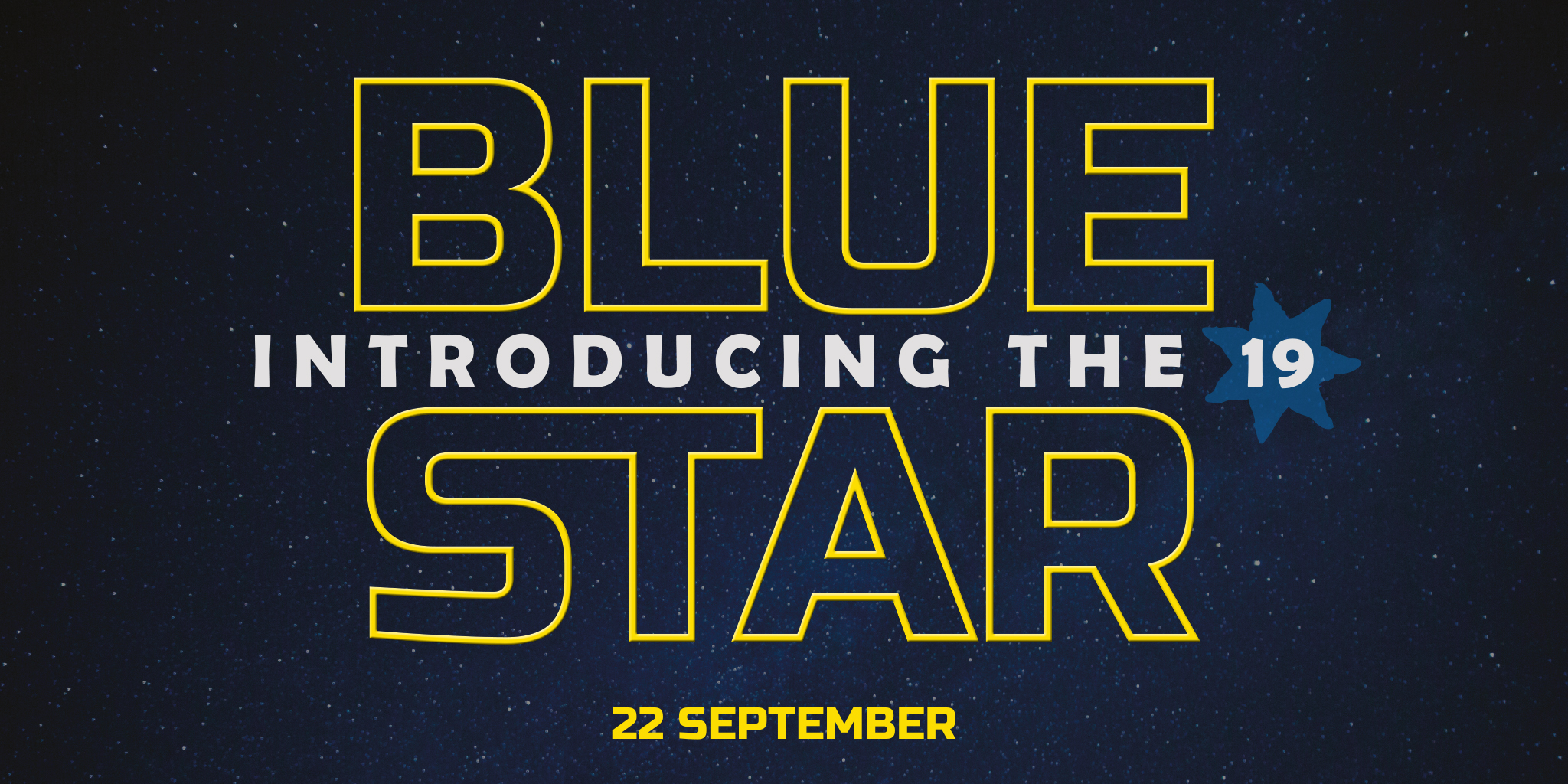 Introducing the Bluestar 19 - from 22nd September