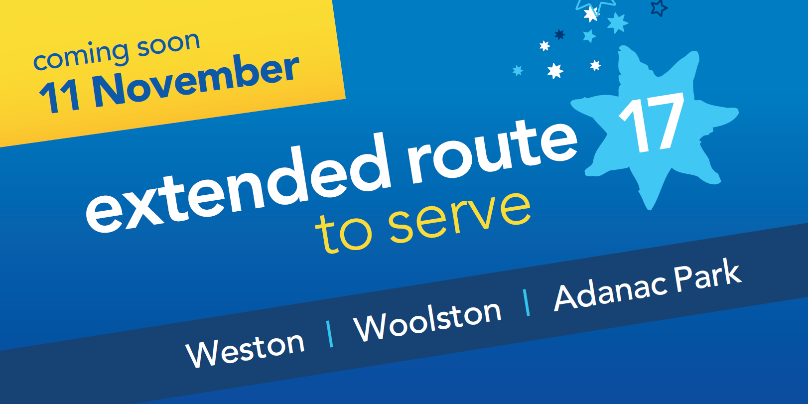 Bluestar 17 extended to serve Woolston and Weston