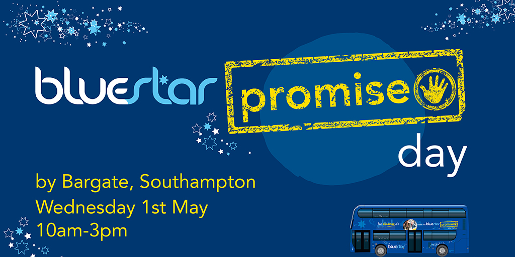 The Bluestar Promise Day will be held on Wednesday 1st May by the Bargate in Southampton.