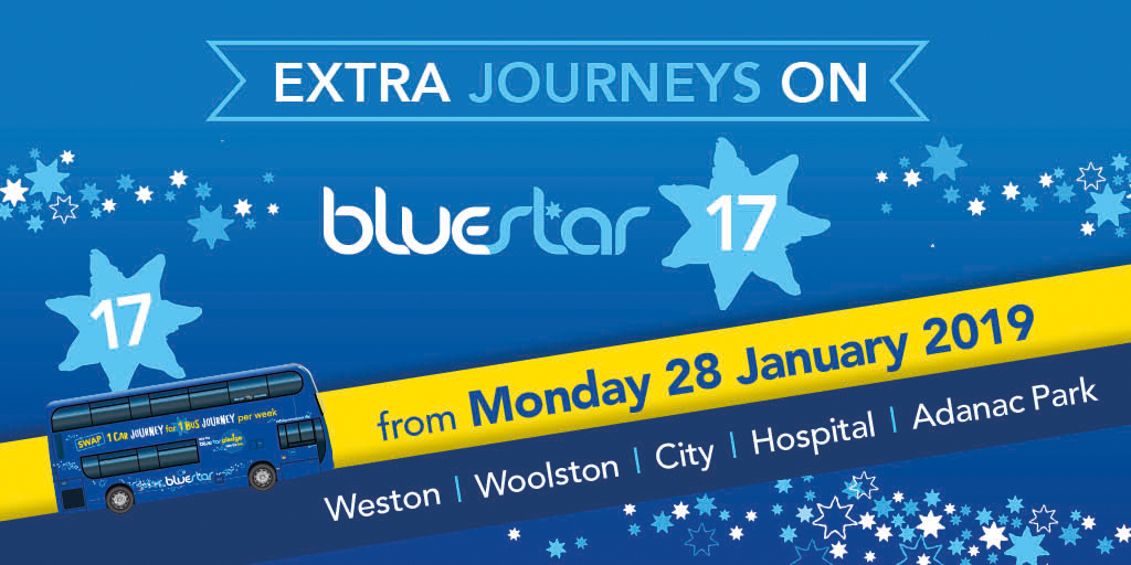 Extra journeys on Bluestar 17