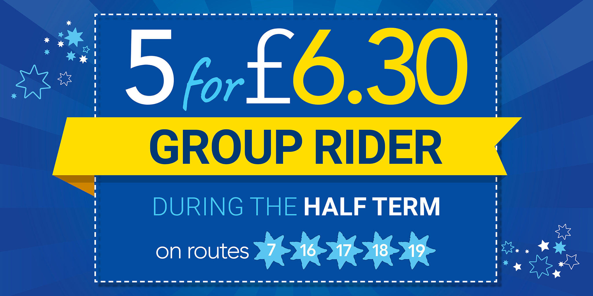Image of 5 for £6.30 group rider during the half term