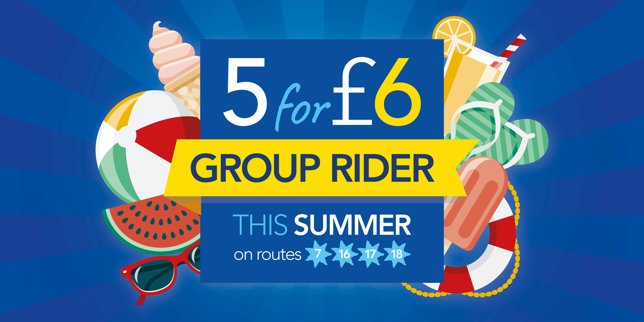 5 for £6 group dayrider ticket this summer