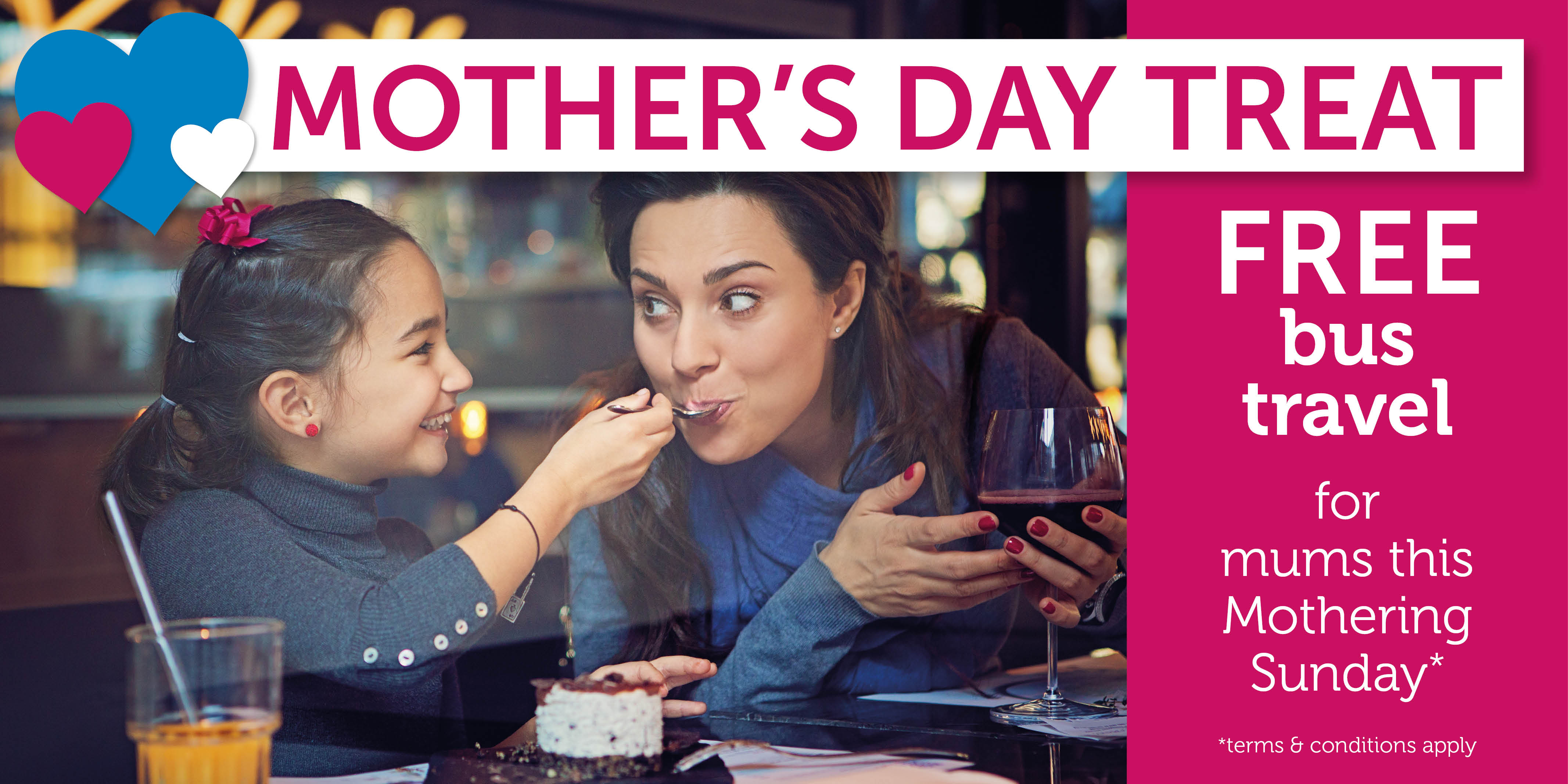 Mum's go free on Mother's Day!