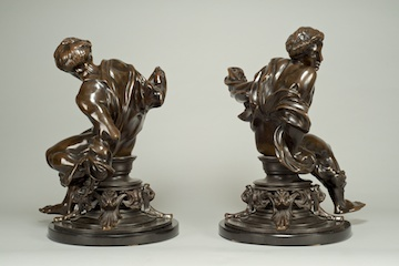 Firedog Finials - Alfred Stevens, Bowman Sculpture Ltd