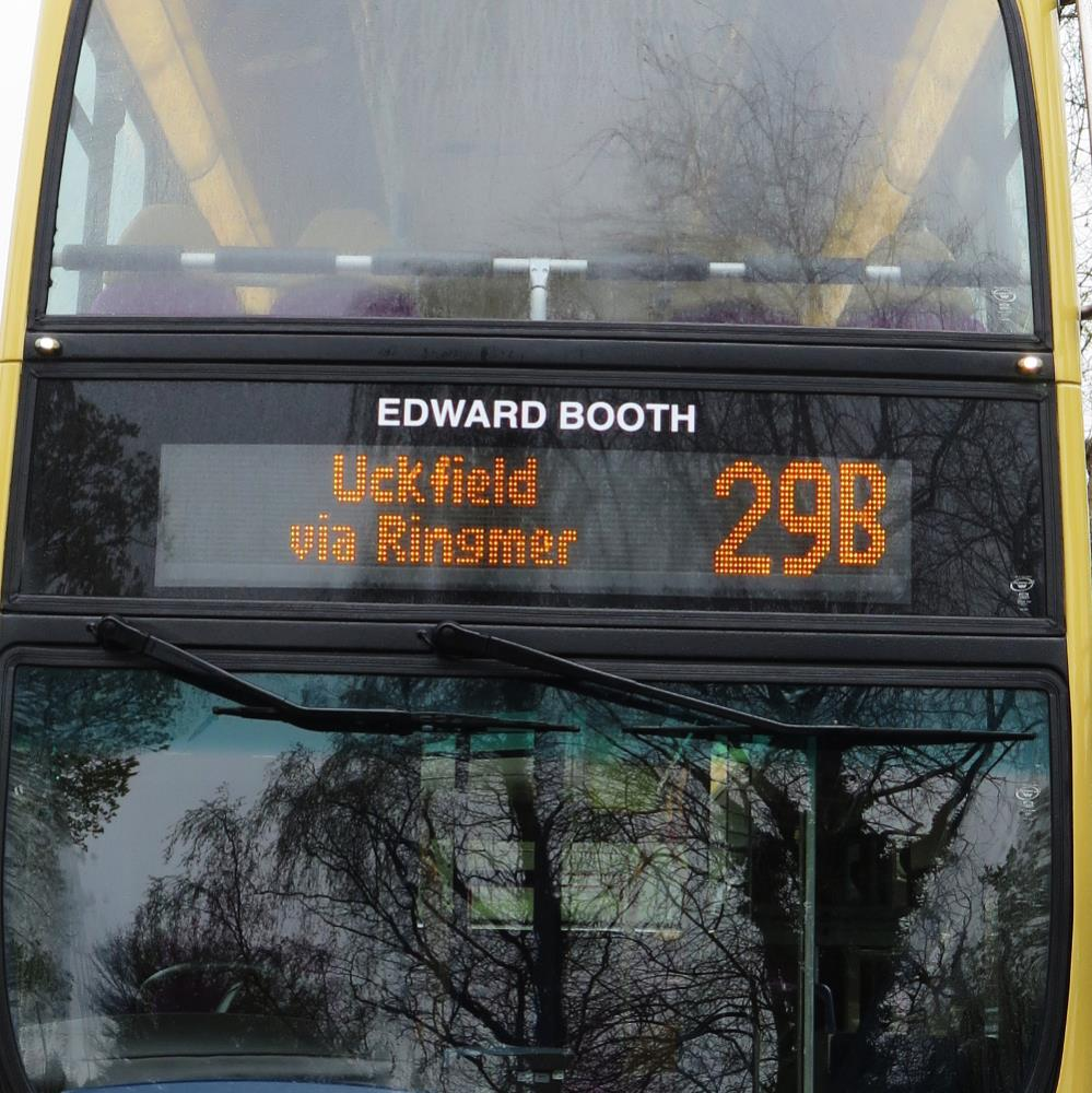 Edward Booth name on bus