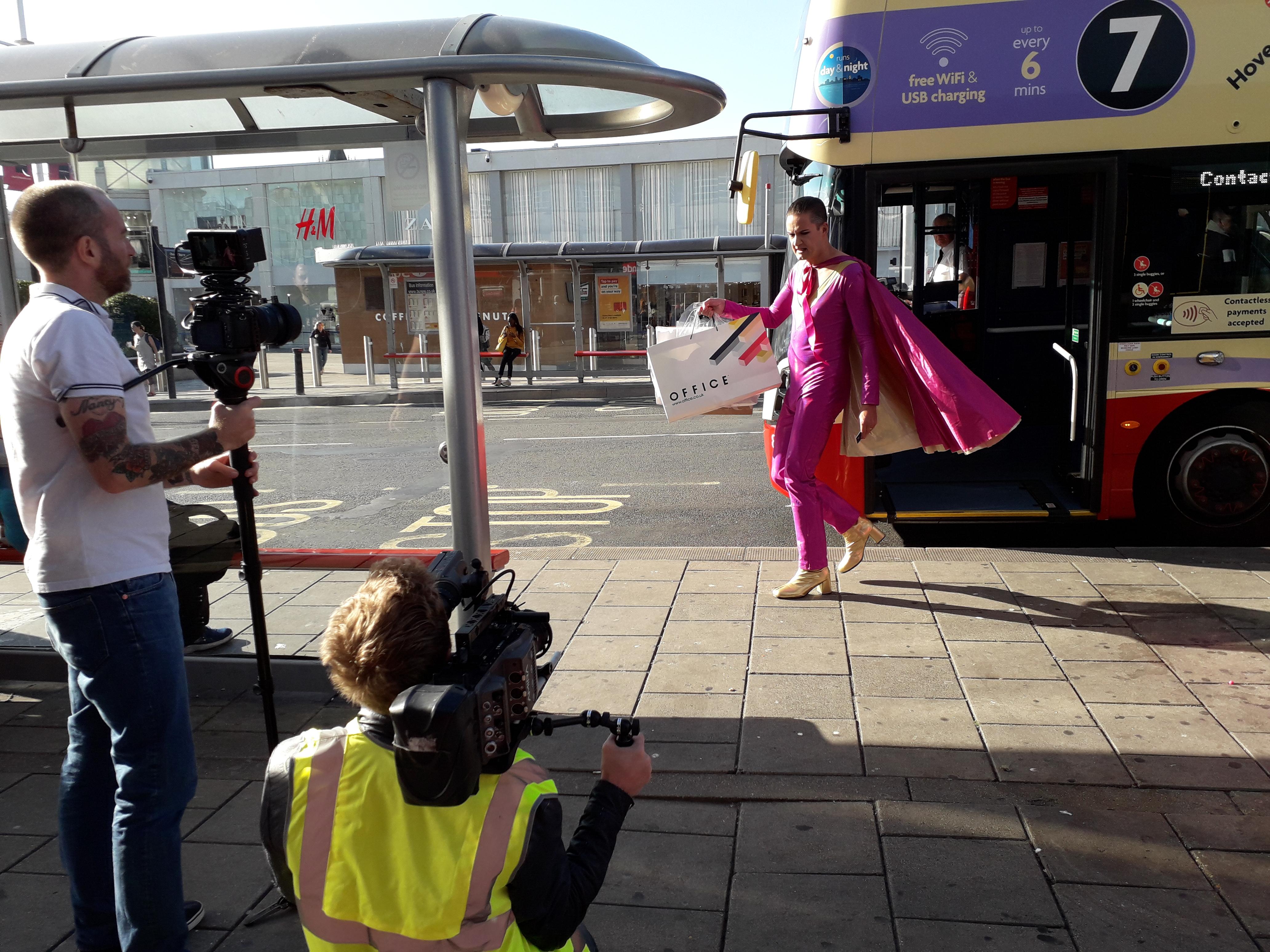 Image of Vince Venus filming